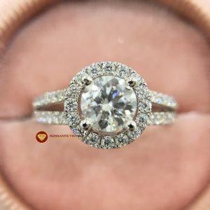 Nhẫn nữ kim cương moissanite chủ 7ly2 engagement